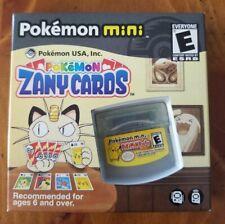 NIB Nintendo Pokemon Mini Pokemon Zany Cards  USA VERSION ENGLISH Rare NEW