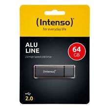 Intenso Alu Line USB Stick 2.0 16GB - 64GB Anthrazit NEU 16 32 64 GB Flash Drive