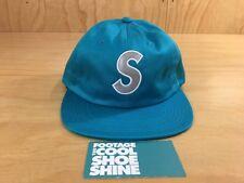 Supreme Reflective S logo 6-Panel Leather Strapback Hat SS16 2016 Teal Box Logo