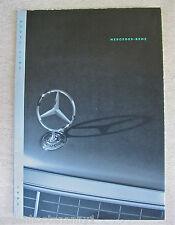1992 Mercedes Benz Model Line Brochure -Near Mint
