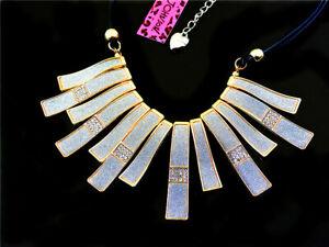 Betsey Johnson fashion Crystal Enamel Pendant Sweater Chain Necklace
