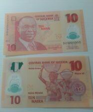 Nigeria 10 naira 2011 in fds polymer