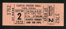 Original 1972 Gladys Knight And The Pips Unused Full Concert Ticket Tampa