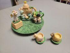Precious Moments Nativity Tea Set Vintage Plates Cups Pitcher Baby Jesus Resin