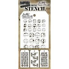 Tim Holtz Mini Layering Stencil ~ SET 28 ~ THMST028 ~ Stampers Anonymous