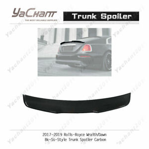 Carbon Rear Wiing For 17-19 Rolls-Royce Wraith / Dawn BK-SS-Style Trunk Spoiler