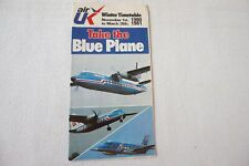 More details for 1980 air uk take the blue plane airlines air timetable schedule horaire