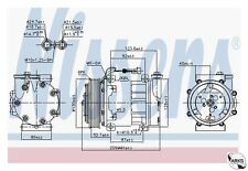 NISSENS AirCon Compressor OE Quality - 89120