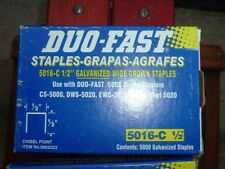 "1/2"" STAPLES 1/2"" wide,20 gauge,Chisel Point, 5000/PACK DUO-FAST 5016C #0005223"