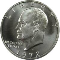 1972 S Eisenhower Dollar BU Uncirculated Mint State 40% Silver IKE $1 Coin