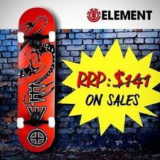 """Element Complete Skateboard - 31"""" Canadian Maple Ply, Dragon [Fire Red]"""