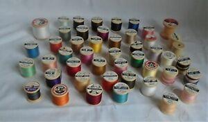 JobLot Bundle of 45 Dewhursts Sylko Plastic Reel Spool (3 sealed 30 Used 12Empty