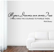 """42"""" All Your Dreams Can Come True Courage Pursue Walt Disney Wall Decal Sticker"""