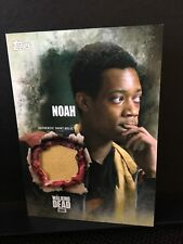 The Walking Dead Season 5 Noah/Tyler James Williams Authentic Shirt Relic Card B
