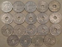 France 19 Different Twenty-Five Centimes 1903-1939 Better Grades as Pictured