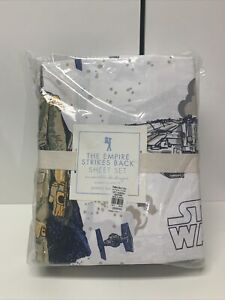 Pottery Barn Star Wars Empire Strikes Back Queen Size Bed Sheet Set BRAND NEW