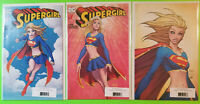 Supergirl #1 SDCC Michael Turner A B C Set NM 3 Cover Lot DC 2017