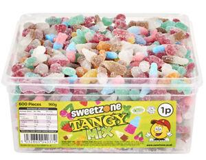 Sweetzone Vegan Tangy Mix 600 Pieces Halal HMC Sweets Tubs