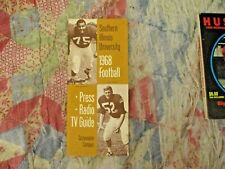 1968 Southern Illinois Salukis Football Media Guide Yearbook Carl Mauck Program