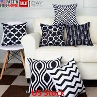 6PC/Set Home Decor Pillowcase Cotton Linen Sofa Cushion Throw Pillow Cover Case