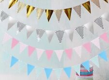 Colorful shining Happy Birthday Party Banner flag  Kids Bunting Pennants Decor