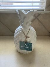 """Tommy Bahama White Pineapple Lamp/Light NWT 12"""" Tall"""
