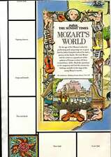 THE SUNDAY TIMES MOZARTS WORLD WALL CHART/POSTER NO STICKERS UNUSED EX MINT