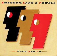 "EMERSON, LAKE & POWELL ""TOUCH AND GO/Learning"" POLYDOR 885101 (1986) 45 & PS"