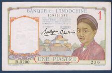 BILLET DE BANQUE D'INDOCHINE.UNE PIASTRE Pick n°54.b de 1932/1939 SUP R.5200 236
