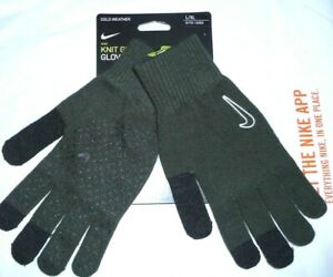 Nike Tech Grip Genuine Stretchy Warm Knitted Fit Gloves Size S- M-L XL  Green