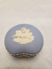 Wedgwood Blue Jasperware Trinket Jewelry Box with lid, Great condition