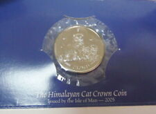 2005 Uncirculated Isle of Man The Himalayan Cat 1 Crown Coin w/ Info Card