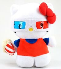 NEW Universal Studios Hello Kitty 3D Glasses Popcorn Bucket Reversible Plush