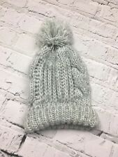 e9c9c01a Womens DOROTHY PERKINS Knitted Green White Winter Bobble Hat