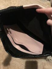 Whistles Pink And Black Oversized Clutch bag