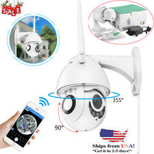 360° Wireless Outdoor IP Camera HD 1080P WiFi 5X ZOOM CCTV Security IR Webcam US