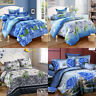 3/4Pcs 3D Printed Bedding Sets clothes Flat Sheet Pillowcase Quilt Duvet Cover