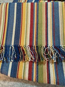 """Crate & and Barrel Wyatt striped Table Runner- 14"""" x 90"""""""