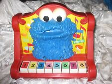 Vintage Sesame Street Muppets 1971-1976 Cookie Monster Red Plastic Toy Piano
