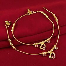 Indian Wedding 18K Anklets Bridal Payal Foot Bracelets Traditional Ankle Chain