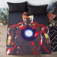 Avengers Iron Man Deep Pocket Fitted Sheet 3PCS Set Cotton Bed Sheet Pillowcases