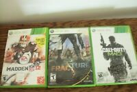 Xbox 360 Games Call of Duty MW3, Madden NFL 12, Fracture, Lot of 3 Preowned
