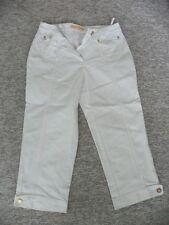 Damenhose Stoffhose von CRiSCA ( BiBA ) Gr. 38  3/4 lang weiß Sommerhose