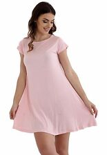 LADIES WOMEN GIRLS*CAP *SLEEVE SWING DRESS TOP PLAIN SKATER DRESSES TOPS VEST