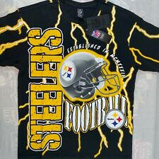 NEW Pittsburgh Steelers T-Shirt Size Small Authentic NFL Apparel Lightning Tee