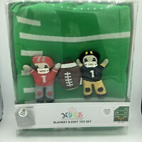 TOBY NIP Not Your Grandma's Blanket NYGB Baby Boy Gift Set Blanket Toys Football