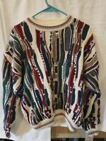 Cotton Traders Vtg Multicolour Mercerised Jumper Sweater McGregor Biggie 90s Med