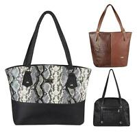 Fashion PU Leather Handbag Snakeskin Print Shoulder Bag Designer Work Shop Tote