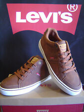 LEVI'S MEN'S CASUAL FAUX LEATHER  MEMORY FOAM INSOLES SNEAKERS TURNER TAN/BROWN