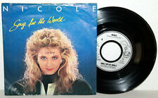 "7"" Vinyl - NICOLE - Song For The World"